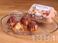 Домашни еклери с крем и шоколадова глазура